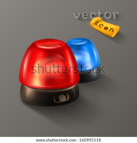 Police sirens icon - stock vector