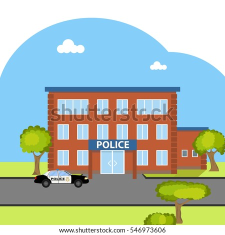 police station police department cop law stock photo photo vector rh shutterstock com police station pictures clip art police station clipart vector