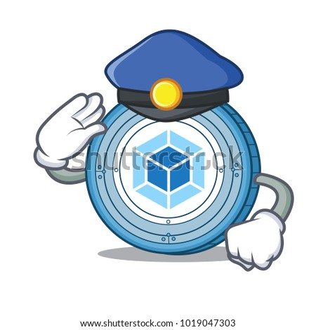 Police webpack coin character cartoon