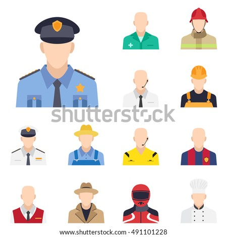 policeman icon in flat style with long shadow, isolated vector illustration on white transparent background