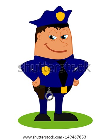 Policeman in uniform, vector illustration