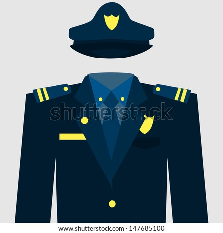policeman uniform - stock vector