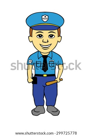 Policeman vector cartoon Illustration
