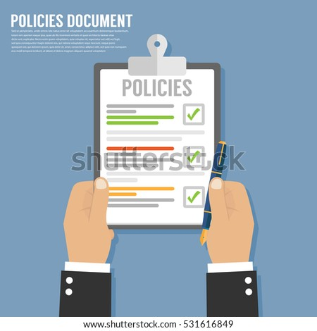 Policies Document Stock Vector 531616849 - Shutterstock