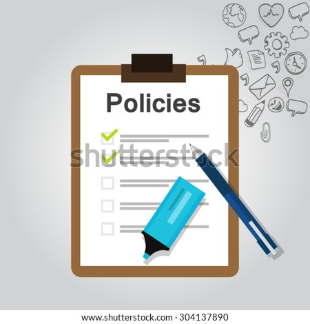 Policies List Board Company Policy Check Stock Vector Hd Royalty