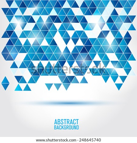 Poligonal background blue color - stock vector