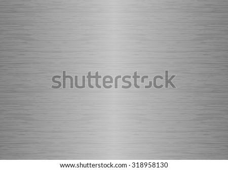 Polished metal seamless texture - stock vector