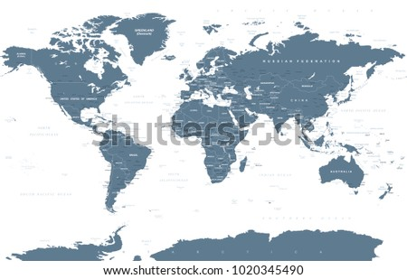 Political grayscale world map vector illustration vector de political grayscale world map vector illustration gumiabroncs Images