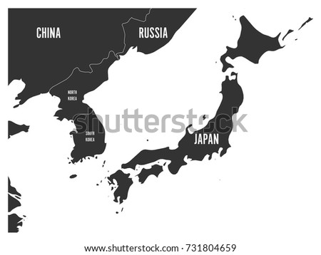 Political map korean japanese region south stock vector hd royalty political map of korean and japanese region south korea north korea and japan gumiabroncs Image collections