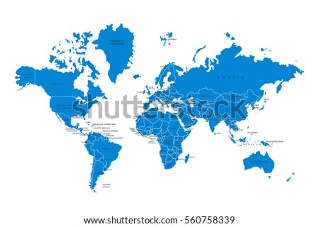 Political map world blue world mapcountries vector de stock560758339 political map of the world blue world map countries vector illustration gumiabroncs Image collections