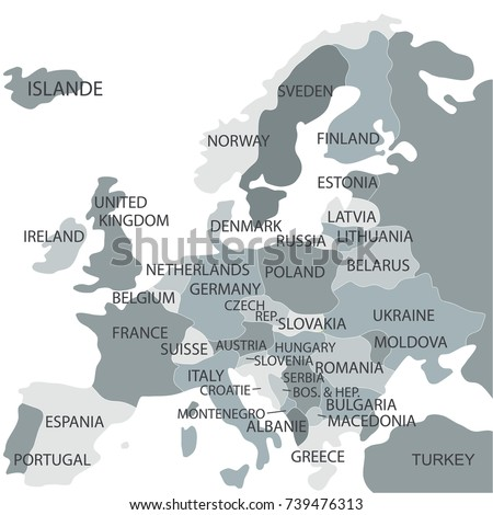 Political map world gray world mapcountries stock vector 739476313 political map of the world gray world map countries gumiabroncs Choice Image