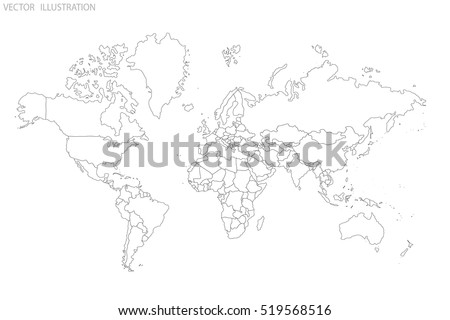 Political map world world map outline vector de stock519568516 political map of the world world map outline gray world map countries gumiabroncs Choice Image