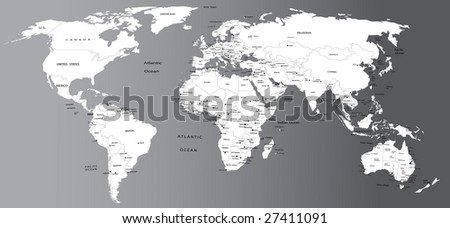Political map of world - stock vector