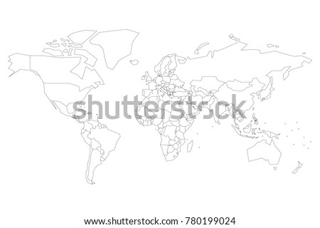 Political map world blank map school vectores en stock 783259015 political map of world with dots instead of small states blank map for school quiz gumiabroncs Image collections