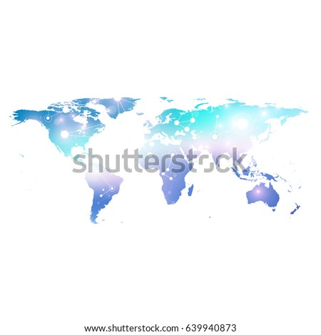 Political world map geometric graphic background stock photo photo political world map geometric graphic background communication big data complex with compounds perspective gumiabroncs Image collections