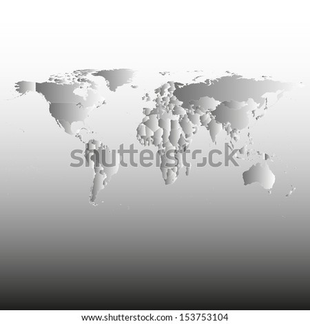 Political World Map Illustration
