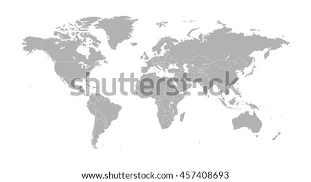 Political world map with country borders stock vector 457408693 political world map with country borders gumiabroncs Image collections