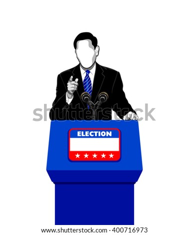 Politician giving an election campaign speech