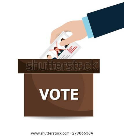 Politics design over white background, vector illustration. - stock vector