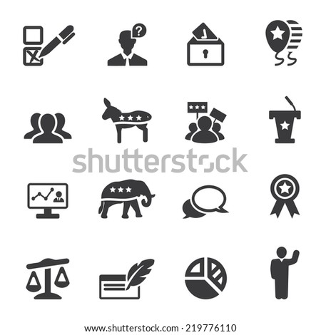 Politics Silhouette Icons 2 - stock vector