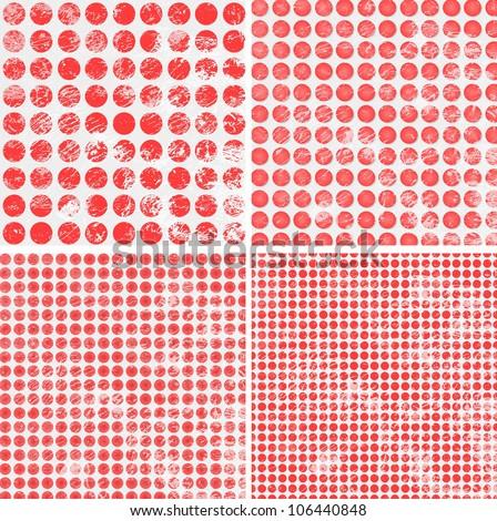 polka dot grunge pattern - stock vector