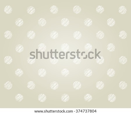 polka dot hand drawing pattern background vector graphic EPS10 - stock vector