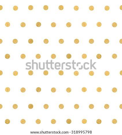 Polka dot pattern. Gold. Silver. Seamless pattern. Vector. - stock vector