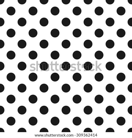 Polka Dot Pattern, Seamless Background - stock vector