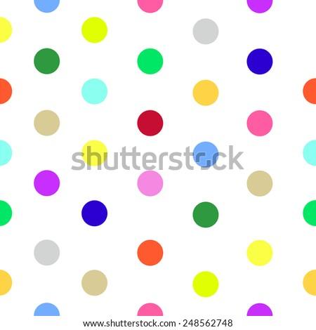 Polka dot pattern vector - stock vector