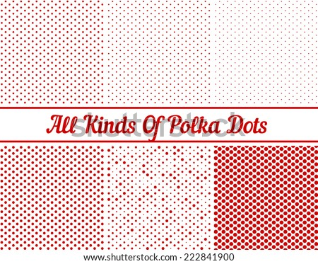 Polka Dot Round Background - stock vector
