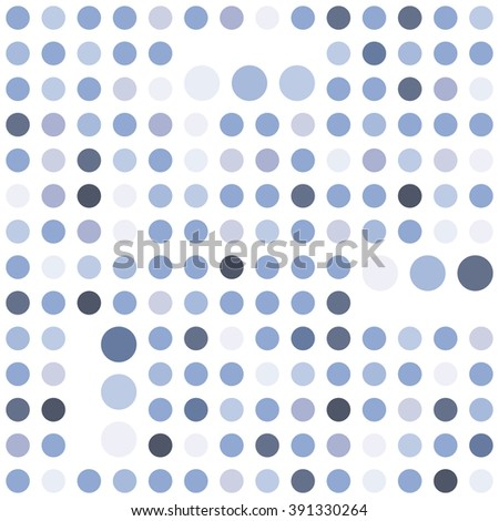 Polka dot seamless background. Abstract geometric vector pattern. Serenity tint ornamental texture.