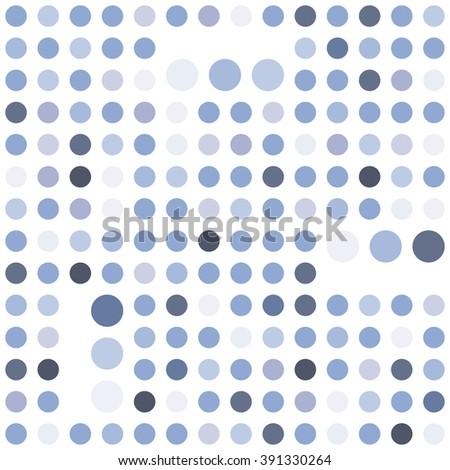 Polka dot seamless background. Abstract geometric vector pattern. Serenity tint ornamental texture. - stock vector