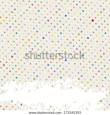 polka dots background, free copy space, vector Illustration
