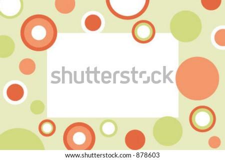 Polka dots photo frame - stock vector