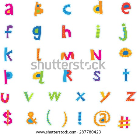 Polka Stripe Color Type Alphabet lowercase