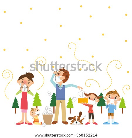 Pollen and family - stock vector