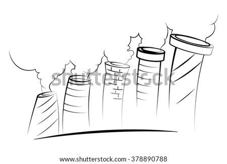 pollution, harmful emissions - stock vector
