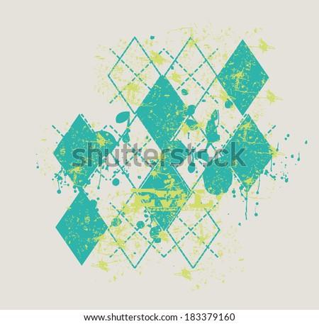 polo checkered background vector art - stock vector