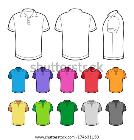 Polo in various colors. - stock vector