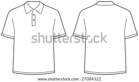 Polo shirt â?? front and back view isolated - stock vector