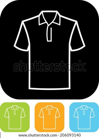 Polo shirt vector icon - stock vector