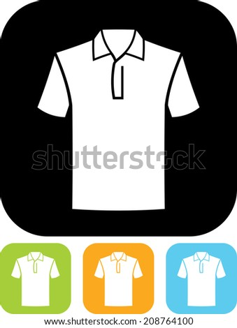 Polo shirt vector icon