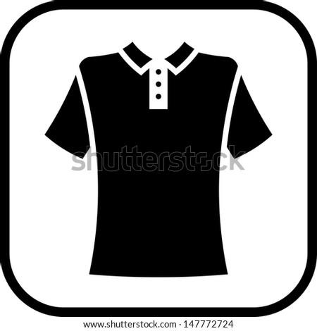 Polo shirt vector isolated - stock vector
