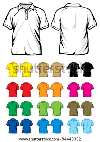 polo shirts - stock vector