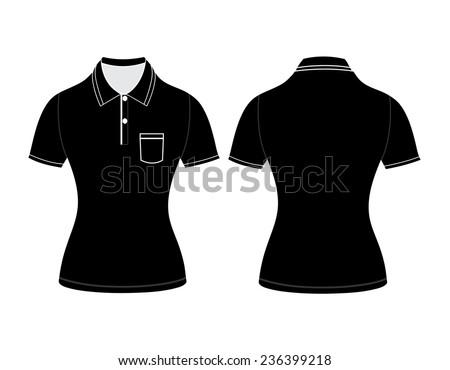 Polo Woman Shirt Design Templates Front Stock Vector 236382877 ...