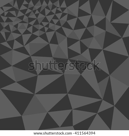 Polygon background, abstract geometric pattern gray color, vector illustration