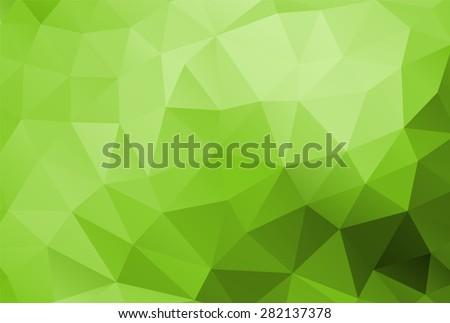 polygon background green - stock vector