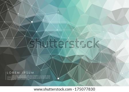 polygon background vector - stock vector