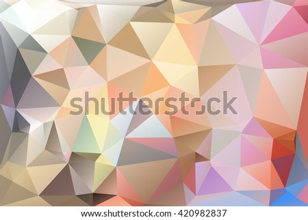 Polygon background with brilliant color designed vector illustration. For modern background concept design : polygonal, triangular mosaic, low polygon, any abstract background in several media.