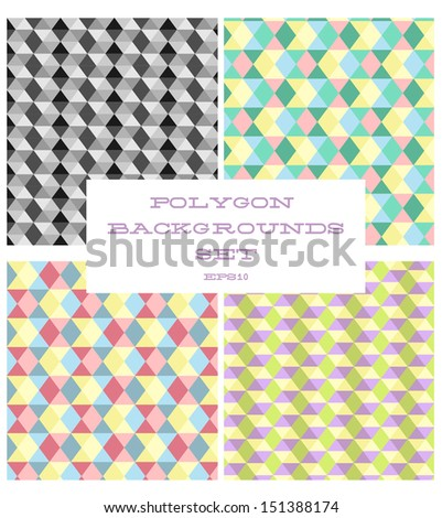 Polygon backgrounds set. EPS 10 - stock vector